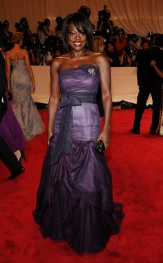 Viola Davis Evening Dress - Viola Dress showed off a deep purple gown while attending the MET Gala. Viola Davis, Purple Gowns, Strapless Dress Formal, Formal Dresses, Classic Beauty, Black Beauty, Celebs, Celebrities, Beauty Trends