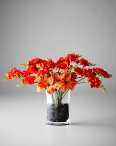 Freesia Charisma Faux Floral Arrangement by John-Richard Collection at Horchow.