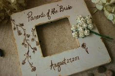 Wedding Gift Parents of the Bride Frame Engraved by PrinceWhitaker, $19.99