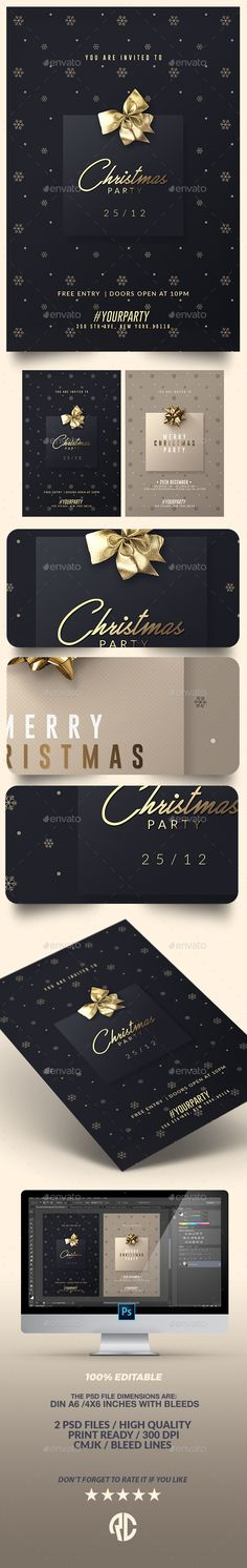 2 Classy Christmas Party | Invitation Templates PSD