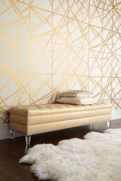 Accent Walls In Living Room, Living Room Decor, Dining Room, Deco Ethnic Chic, Boho Chic, Modern Bohemian, Beige Wallpaper, Bedroom Wallpaper, Wallpaper Ideas