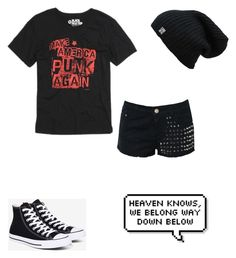 """""""Untitled #131"""" by musicqueen72 ❤ liked on Polyvore featuring Glamorous and Converse"""