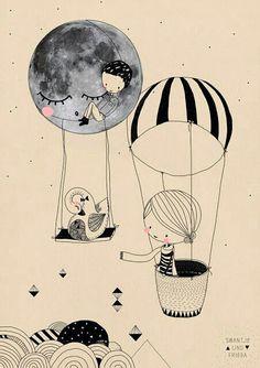 Tú en mi luna.