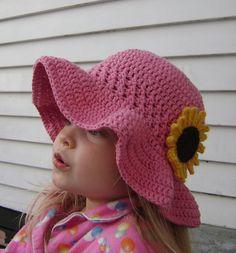 Cotton Ruffle-Brim Sunhat - FREE pattern - Hatting Madly Crochet