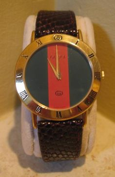 gucci watches for men | Vintage Gucci stripe dial men's watch to make sure I'm never late for ...