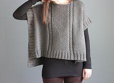Margo Poncho pattern - seamless, easy knitting pattern using aran/bulky weight yarn.