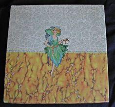 Paper Ephemera 1920s Art Deco Handkerchief by hollyhockscottage