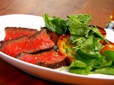 Grilled Rib Eye Steak with Romaine Marmalade and Watercress from FoodNetwork.com ~ Geoffrey Zakarian