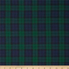 House of Wales Plaid Nightfall from @fabricdotcom  From Kaufman, this lightweight soft shirting is perfect for blouses, shirts, fuller skirts and dresses. It features a yarn dyed twill plaid of navy, black, and forest green.