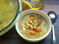 a hearty, healthy, positively wonderful bowl of traditional Greek chickpea soup