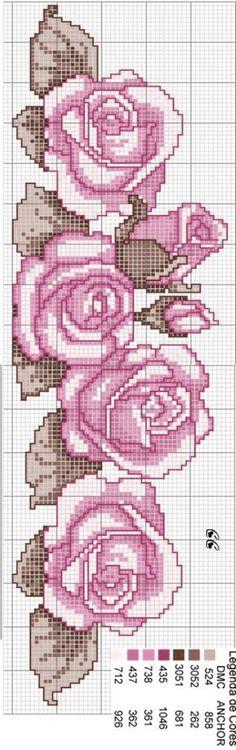 Cross Stitch Rose, Cross Stitch Flowers, Modern Cross Stitch Patterns, Cross Stitch Designs, Cross Stitching, Cross Stitch Embroidery, Pearler Bead Patterns, Simple Embroidery, Plastic Canvas Patterns