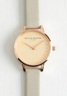 Olivia Burton What Makes You Tick Watch by Olivia Burton - Grey, Solid, Special Occasion, Wedding, Graduation, Bridesmaid, Bride, Luxe, Statement, Best, International Designer, Gold