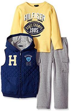 Tommy Hilfiger Little Boys' Vest with Tee and Pants, Navy, 3T Tommy Hilfiger http://www.amazon.com/dp/B00V6HIQUW/ref=cm_sw_r_pi_dp_QZWKwb0CKT27T