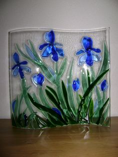 I like the bright blue and glass fusion