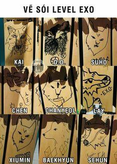 Do Kyungsoo is the new Picasso 😂💕 Kpop Exo, Suho Exo, Exo Ot12, Chanbaek, Memes Historia, Exo Group, Xiuchen, Exo Korean, Kim Jongdae