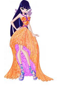 Муза Винкс бальные платья принцесс 6 сезон