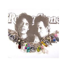 ROLLING STONES Charm Bracelet Rock n Roll Band Icons. $25.00, via Etsy.