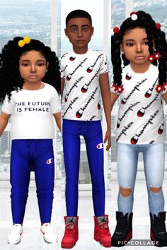 Sims 4 interior and architecture — simlocker: -champion shirt & joggers for kids and. Sims 4 Toddler Clothes, Sims 4 Cc Kids Clothing, Sims 4 Mods Clothes, Sims Mods, Toddler Outfits, Kids Outfits, Toddler Boy Shoes, Kids Clothes Boys, Kids Boys
