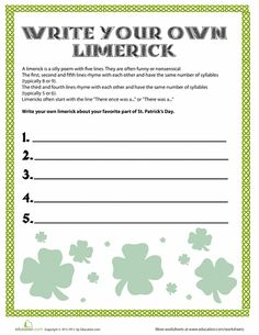"""limerick essay How to write a limerick what is a limerick limericks are one of the most fun and well-known poetic forms no one knows for sure where the name """"limerick"""" comes."""