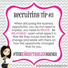 The Direct Sales Mama: Direct Sales Recruiting Tip #3
