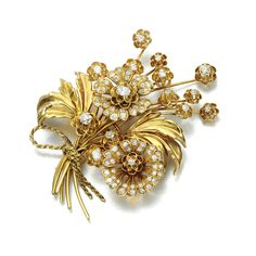 DIAMOND BROOCH, VAN CLEEF & ARPELS, 1950S