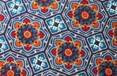 I have released a new crochet blanket kit via the Janie Crow web site. The project is called Persian Tiles and the design is based on my 2...