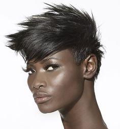 Spiky-hair-for-black-women Short Hair for Black Women Short Spiky Hairstyles, Short Hairstyles For Women, Straight Hairstyles, Braided Hairstyles, Short Haircuts, Black Hairstyles, Popular Hairstyles, Trending Hairstyles, Natural Hairstyles