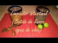 Limpiador intestinal (Batido de linaza, agua de chía) - YouTube