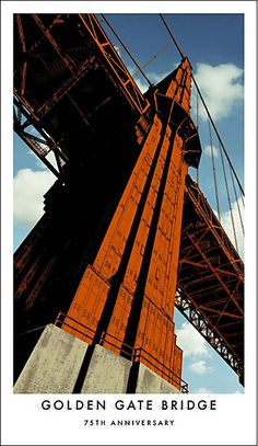 On May 27 San Francisco's Golden Gate Bridge celebrates its anniversary. Working with the Golden Gate National Parks Conservatory, agency Goodby Silverstein & Partners has created a suitably grand poster campaign San Francisco California, California Dreamin', Voyage Usa, 7 Arts, Vintage Travel Posters, Poster Vintage, Wanderlust, Golden Gate Bridge, Partner