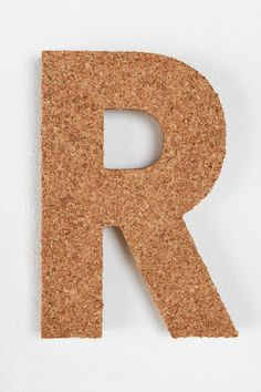 Cork Letter #UrbanOutfitters I want these cork board letters for our apartment!