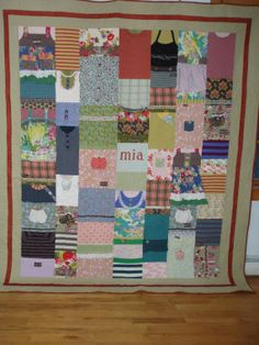 CUSTOM ORDERS for quilts made from your baby clothes by BarbMalmTshirtQuilts on Etsy