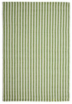 Chester Rug - Green White | Hook and Loom - Attractive, affordable rugs, hand-woven in a range of eco-friendly colors.