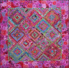 Around the Block; Kaffe Fassett fabric and Blue Underground pattern. Suburb!!