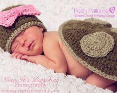 Crochet PATTERN Newborn Hat and Shell Little by PoshPatterns, $6.95