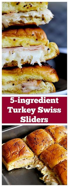 These Turkey Sliders are easy and perfect for parties, game days, o. These Turkey Sliders are easy and perfect for parties, game days, or any other gatherings! Ooey gooey cheese and delicious smoked turkey make a wonderful combination! Slider Sandwiches, Party Sandwiches, Slider Recipes, Game Day Food, Game Day Recipes, Game Day Snacks, Recipes For Dinner, Football Food, Appetizer Recipes