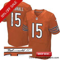 3cb33d9c32e  129.99 Men s Nike Chicago Bears  15 Brandon Marshall Elite Orange NFL  Alternate Autographed Jersey