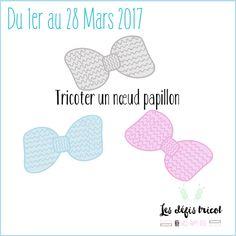 Défi tricot N°16 - Tricoter un nœud papillon - Miss Happy Rose