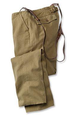 Miner's canvas pants