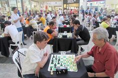 Torneio de Xadrez atrai dezenas ao Big Shopping/Fotos: Divulgação