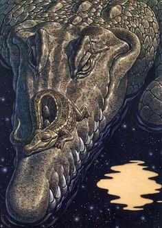 [EndLiss scans - Wildlife Art] Richard Cowdrey - Alligator Lullaby