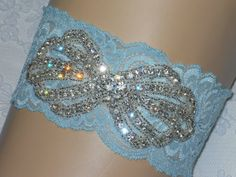 Plus Size bridal garter in various colored laces by ArtHouseBridal, $38.00