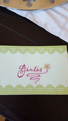 Bigliettino auguri shaker realizzato per mia nipote Giulia