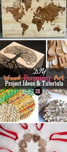 Lots of DIY Wood Burning Art Project Ideas and Tutorials! #Woodworking
