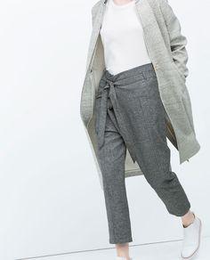 LOW WAIST TROUSERS-Trousers-TRF | ZARA United Kingdom