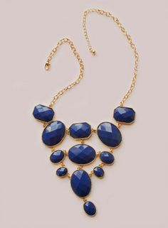 Angelina Necklace in Navy