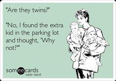 Funny twin Ecard
