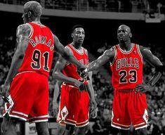 Chicago Bulls and the original Big 3.