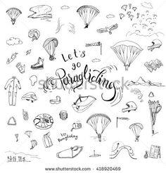 Resultado de imagem para paragliding drawing