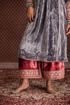 Lace Skirt, Sequin Skirt, Pink Velvet, Indian, Suits, Grey, Fashion, Gray, Moda