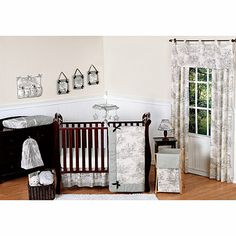 Sweet Jojo Designs French Toile Crib Bedding Collection in Black/Cream - buybuyBaby.com